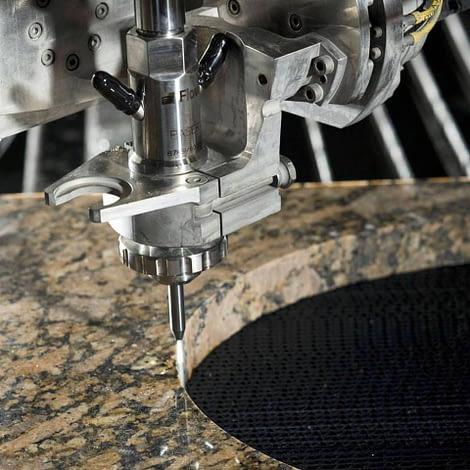 water jet cutter stone