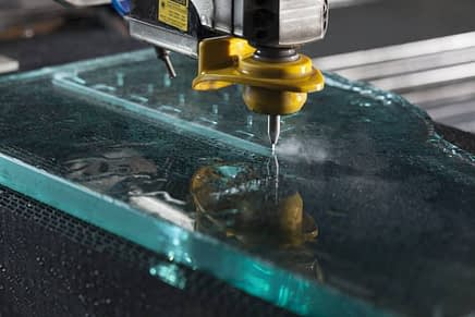 water jet cutter glass