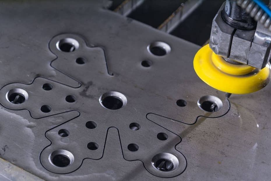 water jet cutter metal