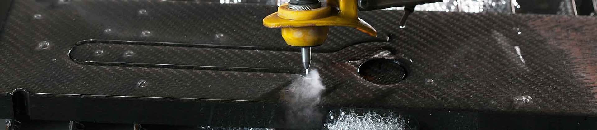Water jet composite cutting